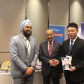 Nippon Platform執行長Jun Takagi在馬來西亞吉隆坡舉行的第37屆MAJECA-JAMECA聯席會議上發表演講