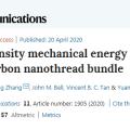 Nature 子刊:金剛石納米線束儲能密度為鋰離子電池的 3 倍,可用於機械人研發