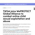 TikTok加入WePROTECT全球聯盟,保護未成年人線上安全